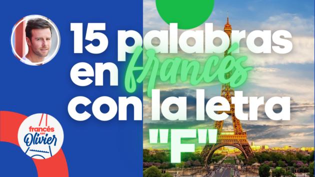 Palabras francés letra F
